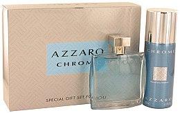 Düfte, Parfümerie und Kosmetik Azzaro Chrome - Duftset (Eau de Toilette 100ml + After Shave Balsam 100ml + Deostick 75ml)