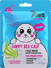Düfte, Parfümerie und Kosmetik Feuchtigkeitsspendende Gesichtsmaske mit Algen und Islandmoosextrakt - 7 Days Animal Happy Sea Calf