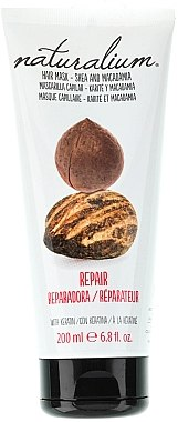 Regenerierende Haarmaske mit Shea, Macadamia und Keratin - Naturalium Hair Mask She And Macadamia — Bild N1
