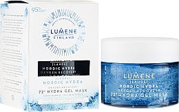 Düfte, Parfümerie und Kosmetik Feuchtigkeitsspendende und erfrischende Gelmaske für das Gesicht - Lumene Nordic Hydra 72H Gel Mask