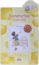 Düfte, Parfümerie und Kosmetik Cellulose-Tuchmaske mit Zitronenextrakt - Sally's Box Loverecipe Lemon Mask