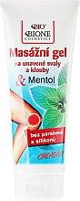 Düfte, Parfümerie und Kosmetik Kühlendes Massagegel mit Menthol - Bione Cosmetics Cooling Massage Gel Menthol