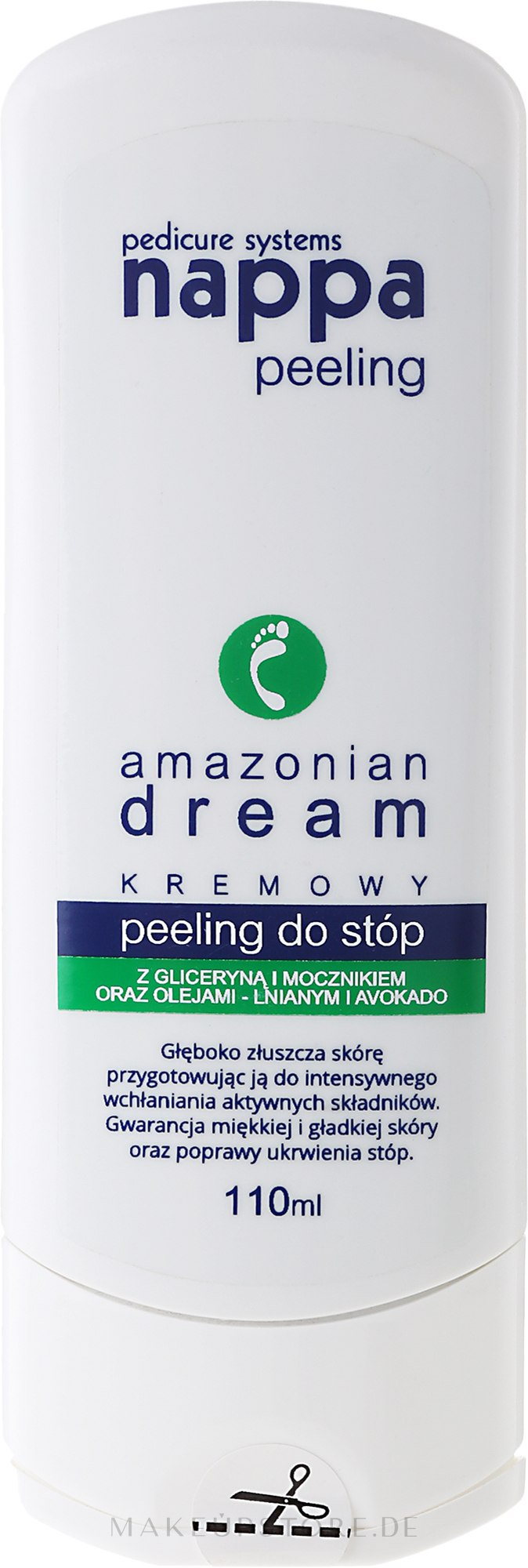 Cremiges Fußpeeling Amazonian Dream mit Glyzerin und Avocado - Silcare Nappa Creamy Foot Peeling Amazonian Dream — Bild 110 ml