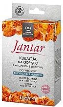 Düfte, Parfümerie und Kosmetik Haarpflegeset - Farmona Jantar Hot Treatment For Dry And Brittle Hair (Haarmaske 17ml + Shampoo 15ml + Haarspülung 5ml + Duschkappe)