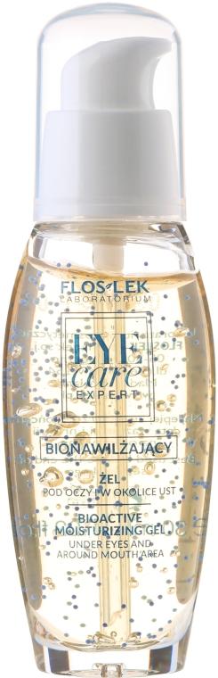 Feuchtigkeitsspendendes Augen- und Lippenkonturgel - Floslek Eye Care Bioactive Moisturizing Gel Under Eyes And Around Mouth Area — Bild N2