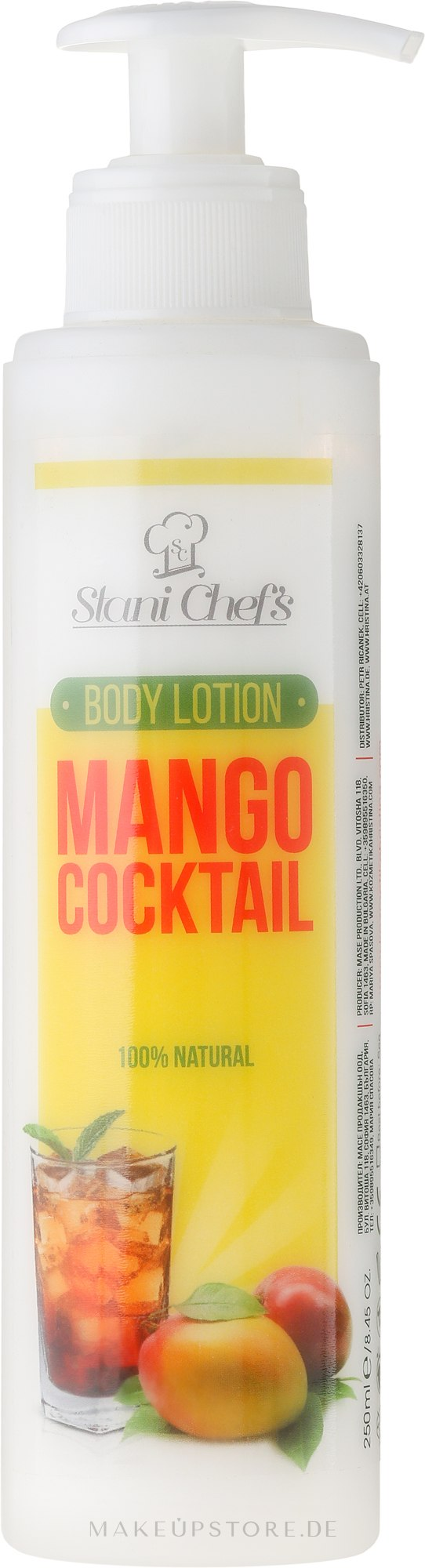 Körperlotion mit Mango-Cocktail - Stani Chef's Mango Cocktail Body Lotion — Bild 250 ml