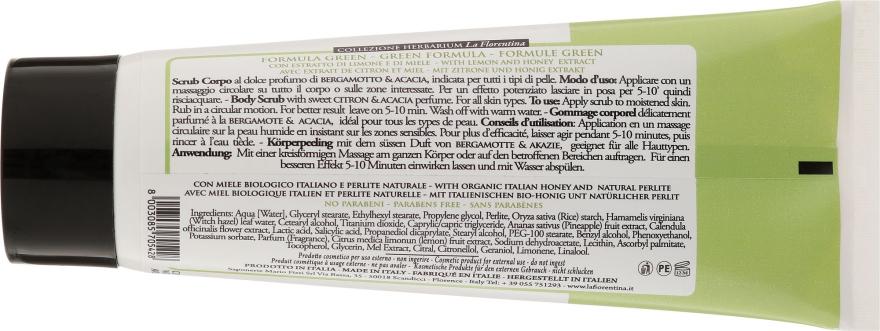 Körperpeeling mit Honig, Bergamotte und Akazie - La Florentina Citron Acacia Body Scrub — Bild N2