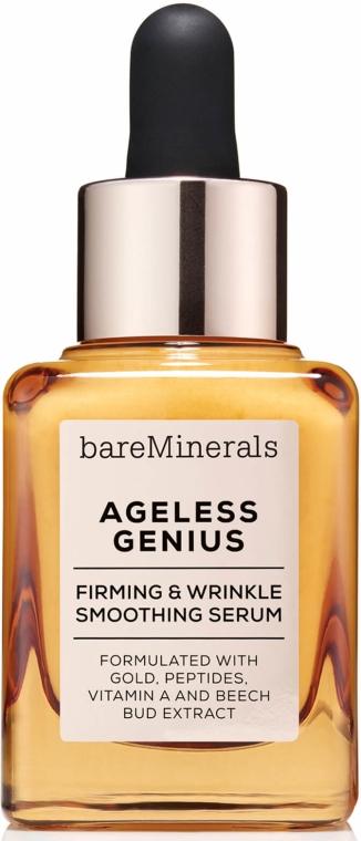 Anti-Aging Gesichtsserum mit Goldpartikeln, Peptiden und Vitamin A - Bare Escentuals Bare Minerals Ageless Genius Firming and Wrinkle Smoothing Serum — Bild N1