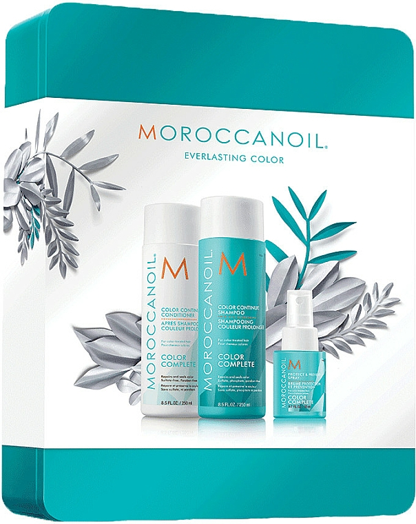 Haarpflegeset - Moroccanoil Color Complete Holiday Set (Shampoo 250ml + Conditioner 250ml + Haarspray 50ml) — Bild N1