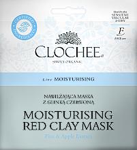 Düfte, Parfümerie und Kosmetik Feuchtigkeitsspendende Gesichtsmaske mit rotem Ton, Flachs- und Apfelextrakt - Clochee Moisturising Red Clay Mask