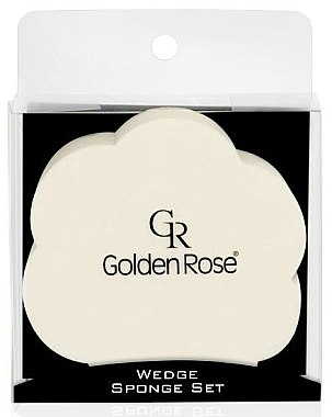 Einweg Latex Schminkschwamm 6 St. - Golden Rose Wedge Sponge Set — Bild N1