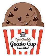 Düfte, Parfümerie und Kosmetik Glättende Tuchmaske mit Kakaoextrakt - Dr. Mola Dark Chocolate Gelato Cup Sheet Mask