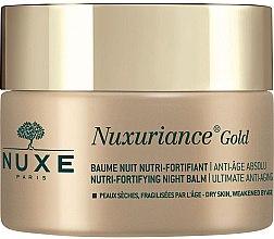 Düfte, Parfümerie und Kosmetik Anti-Aging Gesichtsbalsam - Nuxe Nuxuriance Gold Nutri-Fortifying Night Balm