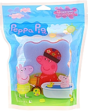 Düfte, Parfümerie und Kosmetik Kinder-Badeschwamm Peppa Pig Auf dem Fahrrad rosa - Suavipiel Bath Sponge