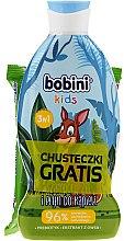 Körperpflegeset - Bobini Kids Set (Schaumgel 330ml + Feuchttücher 15St.) — Bild N1