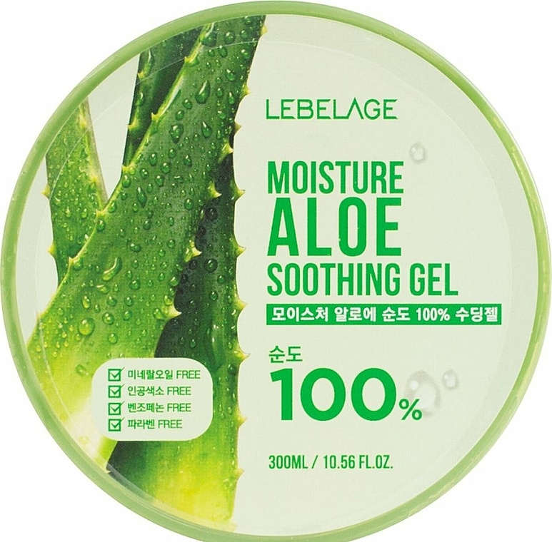 Beruhigendes und feuchtigkeitsspendendes Gesichts- und Körpergel mit 100% Aloe Vera - Lebelage Moisture Aloe 100% Soothing Gel