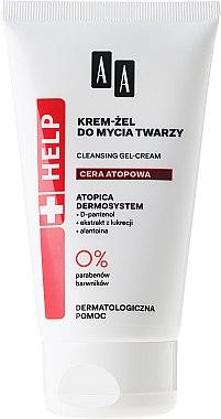 Reinigende Gesichtsgel-Creme mit D-Panthenol, Alantoine und Süßholz-Extrakt - AA Cosmetics Help Cleansing Gel-Cream Atopic Skin — Bild N1