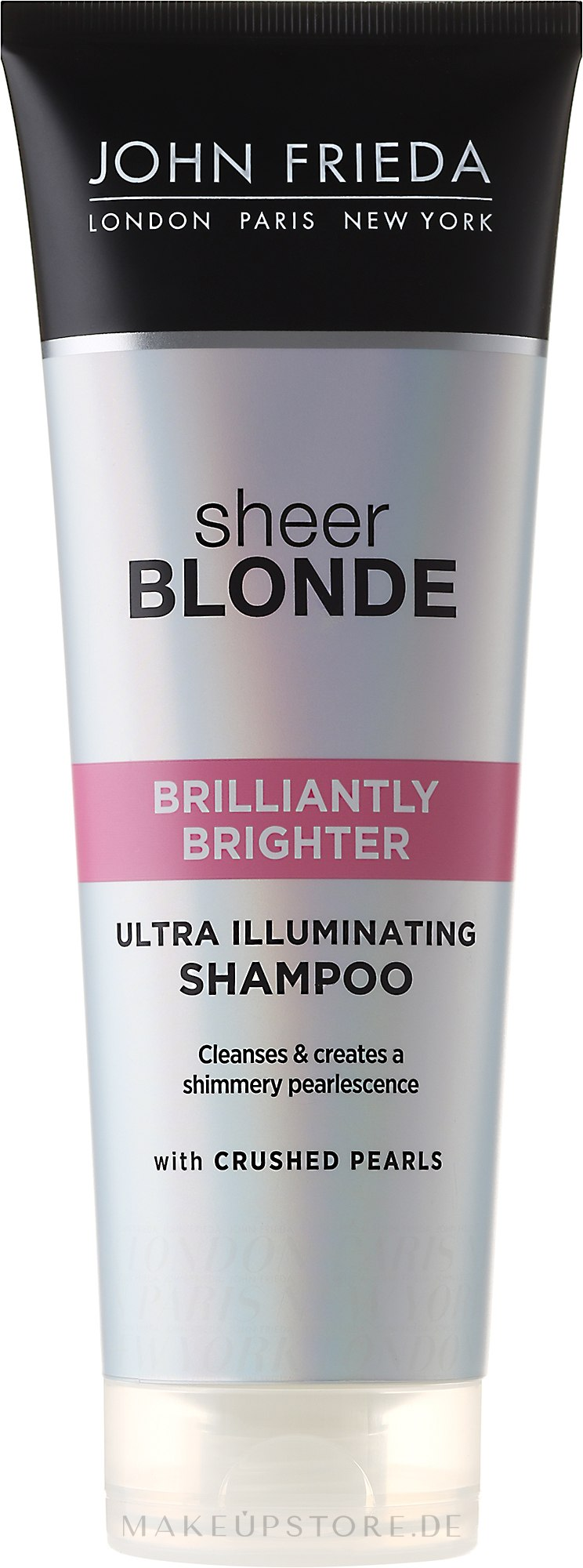 Shampoo zum Beleben von blonder Haarfarbe mit perlmutternem Glanz - John Frieda Sheer Blonde Brilliantly Brighter Shampoo — Bild 250 ml