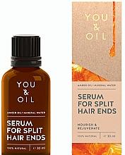 Düfte, Parfümerie und Kosmetik Pflegendes und verjüngendes Anti-Spliss Haarserum - You & Oil Amber. Serum For Split Hair Ends