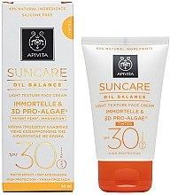 Düfte, Parfümerie und Kosmetik Leichte Sonnenschutz-Tönungscreme SPF 30 - Apivita Suncare Oil Balance Light Texture Tinted Face Cream SPF30