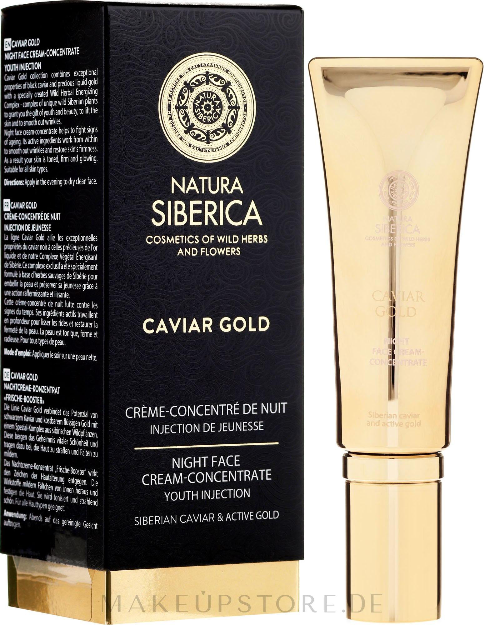 Verjüngendes Nachtcreme-Konzentrat - Natura Siberica Caviar Gold — Bild 30 ml