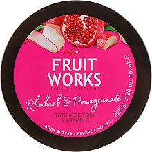 Düfte, Parfümerie und Kosmetik Körperbutter mit Rhabarber und Granatapfel - Grace Cole Fruit Works Body Butter Rhubarb & Pomegranate