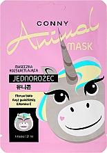 Düfte, Parfümerie und Kosmetik Erfrischende Gesichtsmaske mit Vitamin E Einhorn - Conny Animal Mask Jednorozec