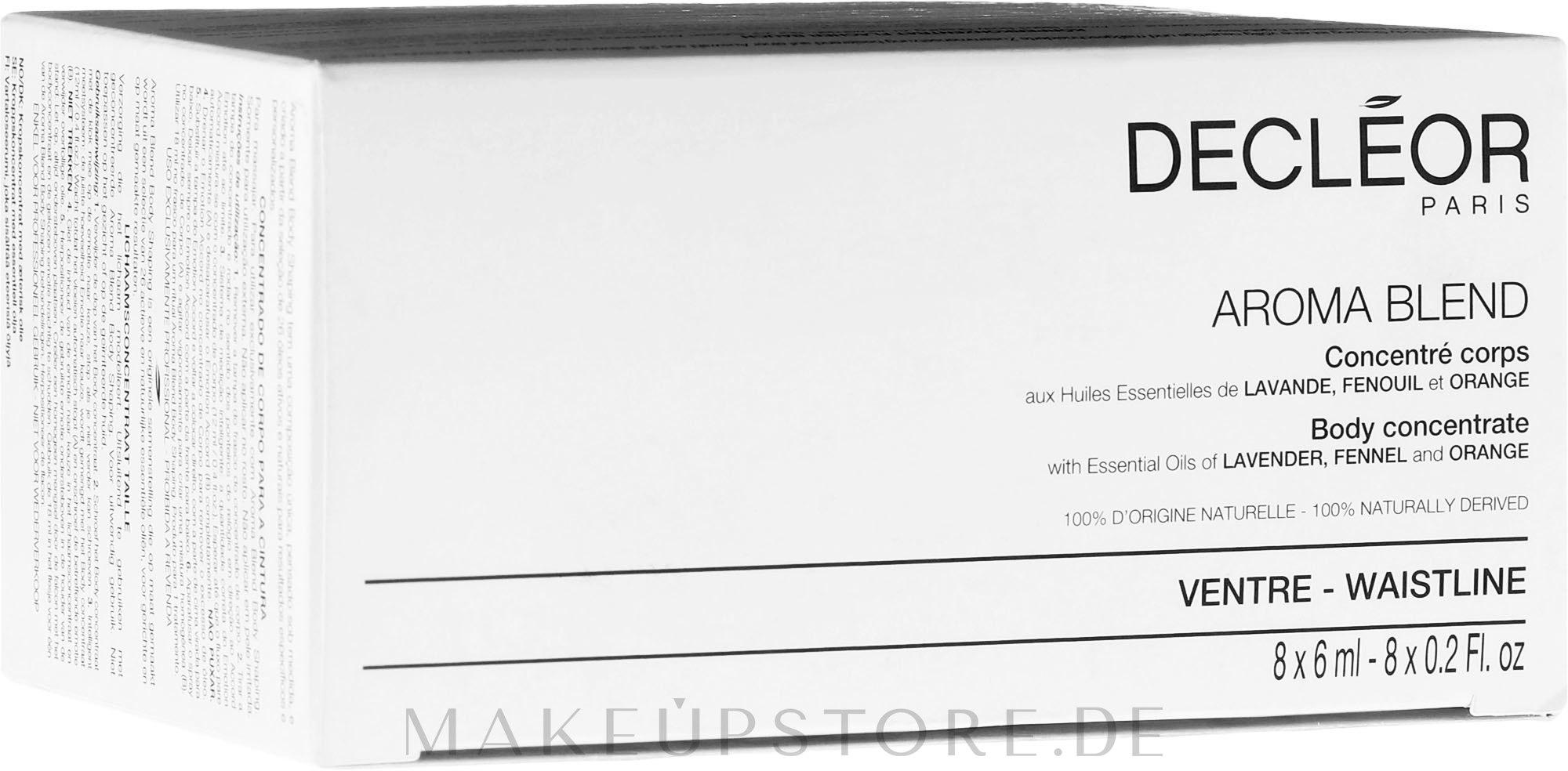 Körperkonzentrat mit ätherischen Ölen - Decleor Aroma Blend Body Concentrate Waistline — Bild 8x6 ml