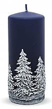 Düfte, Parfümerie und Kosmetik Dekorative Kerze Weihnachtsbäume blau 7x18 cm - Artman Christmas Tree Candle