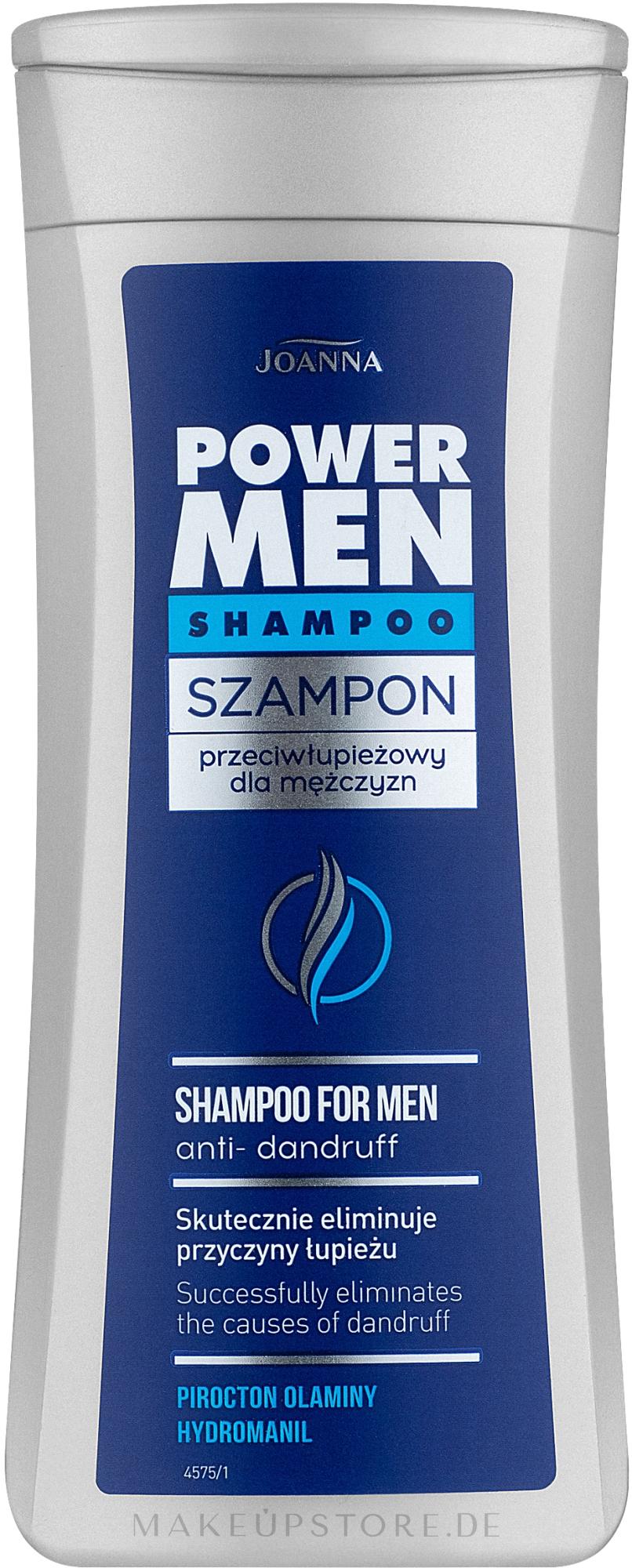 Anti-Schuppen Shampoo für Männer - Joanna Power Hair Shampoo Anti-Dandruff — Bild 200 ml