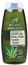 Düfte, Parfümerie und Kosmetik Duschgel mit Hanföl und Holunderbeerextrakt - Dr. Organic Bioactive Skincare Hemp Oil Body Wash