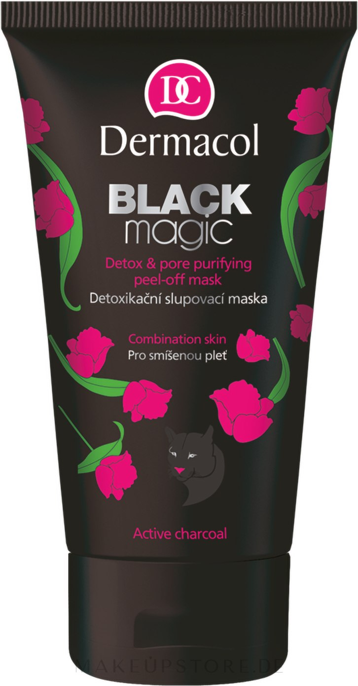 Entgiftende Peelingmaske mit Aktivkohle und Aloe Vera - Dermacol Black Magic Detox&Pore Purifying Peel-Off Mask — Bild 150 ml