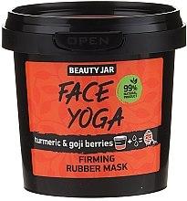 Düfte, Parfümerie und Kosmetik Straffende Gesichtsmaske mit Kurkuma und Goji-Beeren - Beauty Jar Fase Yoga Firming Rubber Mask