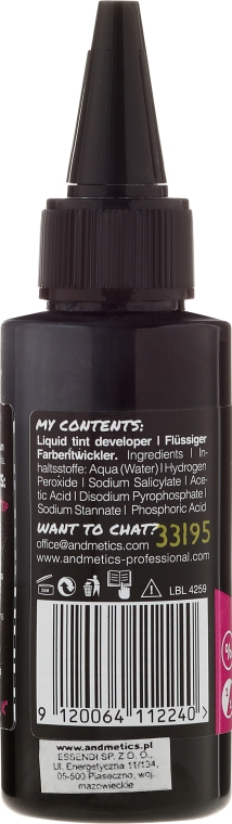 Oxidationsmittel 3% - Andmetics Liquid Tint Developer — Bild N2