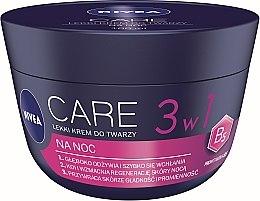 Düfte, Parfümerie und Kosmetik 3in1 Leichte Gesichtscreme für die Nacht - Nivea Care Night Light Face Cream