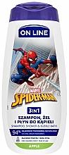 Düfte, Parfümerie und Kosmetik 3in1 Shampoo, Dusch- und Badeschaum mit Apfelduft - On Line Kids Disney Spiderman