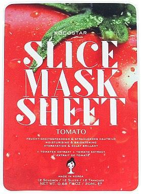 Feuchtigkeitsspendende Tuchmaske mit Tomatenextrakt - Kocostar Slice Mask Sheet Tomato — Bild N1