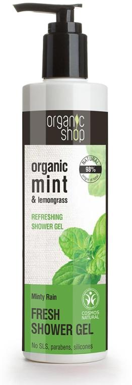 Erfrischendes Duschgel mit Bio Minzextrakt und Zitronengrasöl - Organic Shop Organic Mint and Lemongrass Fresh Shower Gel — Bild N1