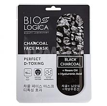 Düfte, Parfümerie und Kosmetik Detox-Tuchmaske für das Gesicht mit Aktivkohle - Biologica Charcoal