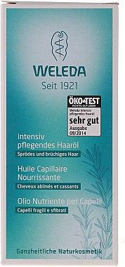 Intensiv pflegendes Öl für sprödes und brüchtiges Haar - Weleda Nourishing Hair Oil — Bild N1