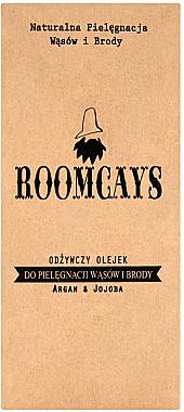 Schnurrbart- und Bartpflegeöl mit Argan und Jojoba - Roomcays — Bild N1