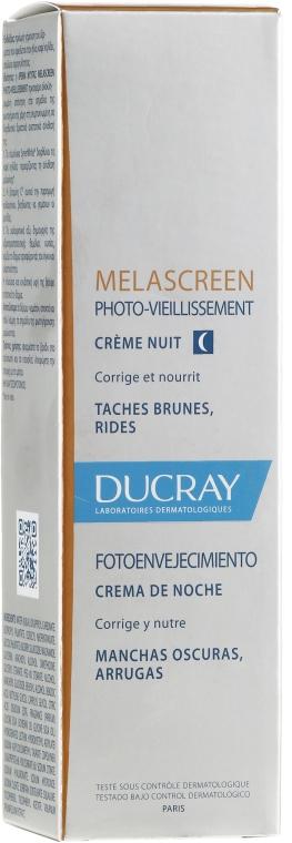 Korrigierende und pflegende Nachtcreme gegen Falten und dunkle Flecken - Ducray Melascreen Night Cream — Bild N1