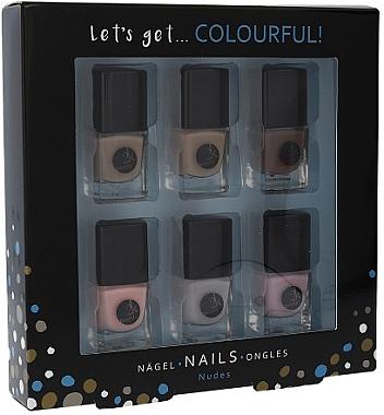 Nagellack-Set - Cosmetic 2K Let'S Get Colourful! Nudes Nail Polish (Nagellack/6x5ml) — Bild N1