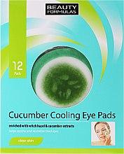 Düfte, Parfümerie und Kosmetik Kühlende Augenpads mit Hasel- und Gurkenextrakt - Beauty Formulas Cucumber Cooling Eye Pads