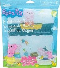 Düfte, Parfümerie und Kosmetik Kinder-Badeschwamm-Set Peppa Pig 3 St. Seereise - Suavipiel Peppa Pig Bath Sponge