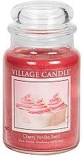 Duftkerze Cherry Vanilla Swirl - Village Candle Cherry Vanilla Swirl Glass Jar — Bild N1