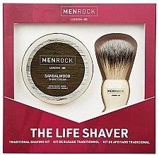 Düfte, Parfümerie und Kosmetik Rasierset - Men Rock The Life Shaver Sandalwood Kit (Rasierpinsel/1St. + Rasiercreme/100ml)