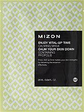 Düfte, Parfümerie und Kosmetik Beruhigende Tuchmaske mit Propolis - Mizon Enjoy Vital-Up Time Calming Mask