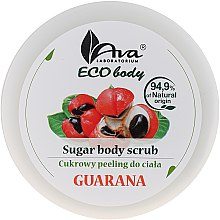 Düfte, Parfümerie und Kosmetik Zuckerpeeling für den Körper mit Guaraná - Ava Laboratorium Eco Body Natural Sugar Scrub Guarana