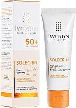 Düfte, Parfümerie und Kosmetik Sonnenschutzcreme für das Gesicht - Iwostin Solecrin Lucidin Protective Cream SPF 50+